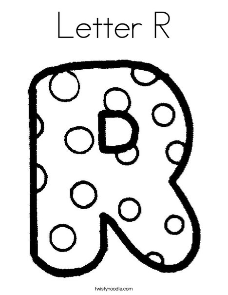 letter r coloring page # 4