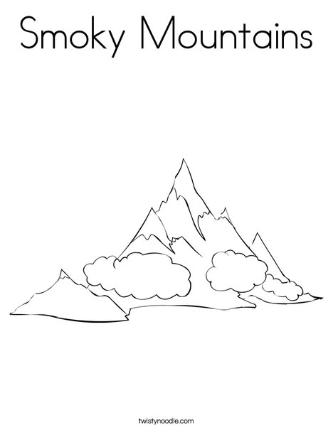 Smoky Mountains Coloring Page Twisty Noodle