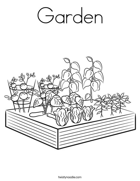 garden coloring page # 6