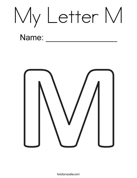 m coloring page # 1
