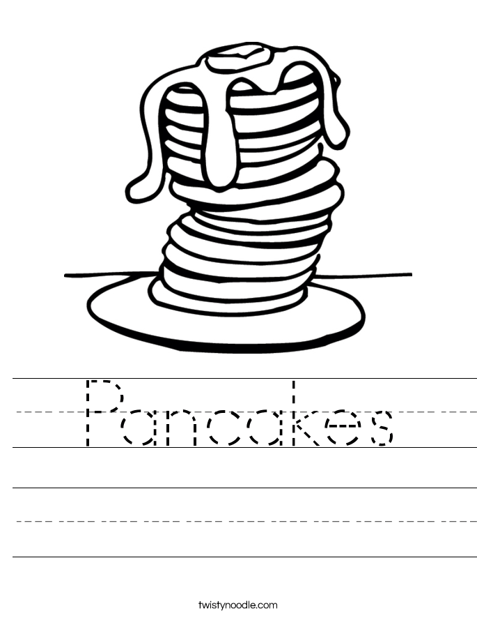 Pancakes Worksheet Twisty Noodle
