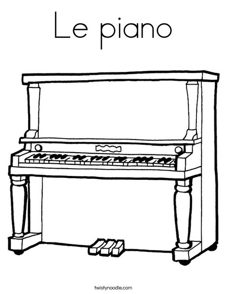 le piano coloring page  twisty noodle
