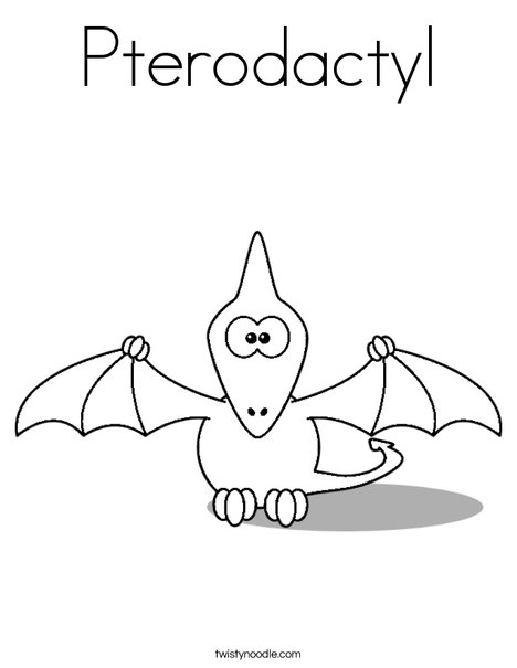 pterodactyl coloring page # 53