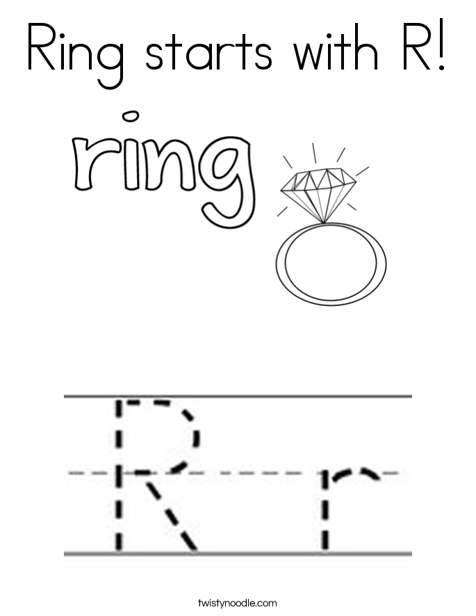 ring starts  r coloring page  twisty noodle