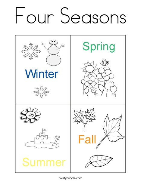 seasons coloring pages # 3