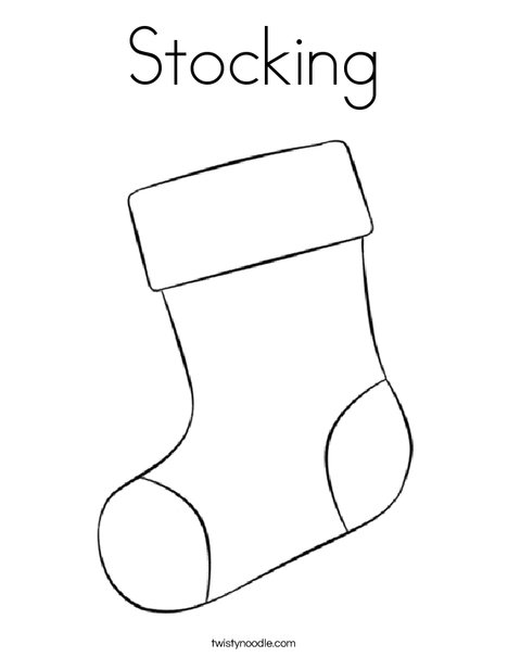 stocking coloring pages # 3