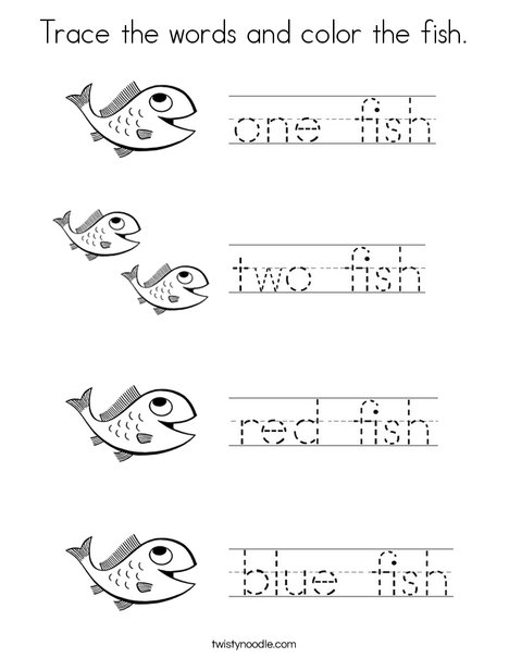 one fish two fish coloring pages # 8