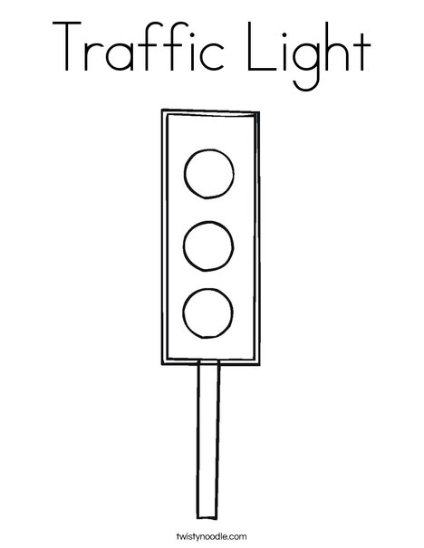 stop light coloring page # 3