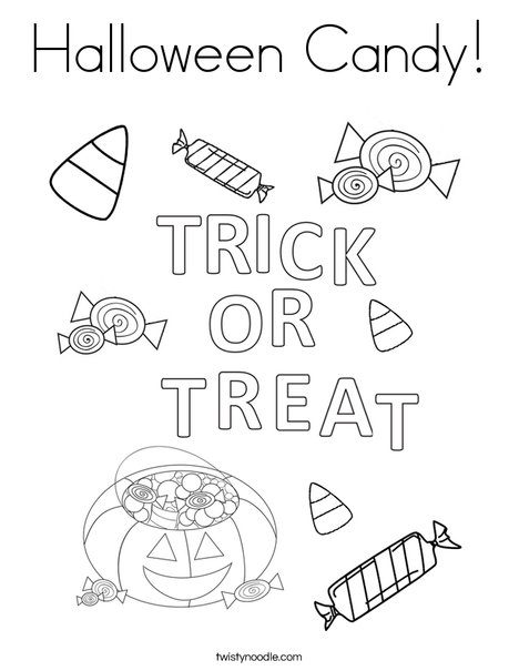 halloween candy coloring page  twisty noodle