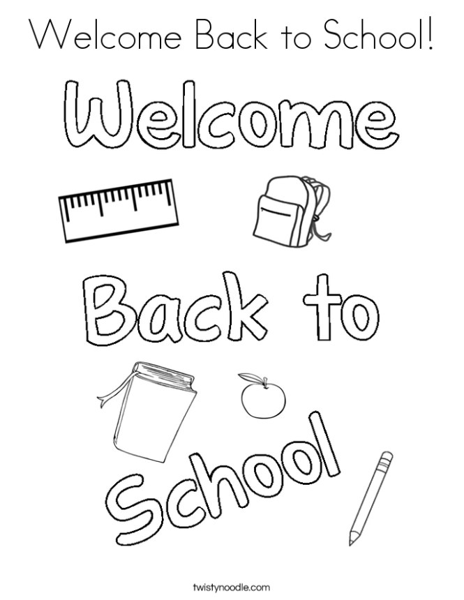 Welcome Back To School Coloring Page
