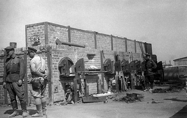 Sowieci potrzebowali zaledwie dwóch tygodni, aby Majdanek znów zaczął funkcjonować. Tylko tym razem strażnicy na wieżyczkach nosili mundury NKWD. Na zdjęciu czerwonoarmiści w wyzwolonym obozie.