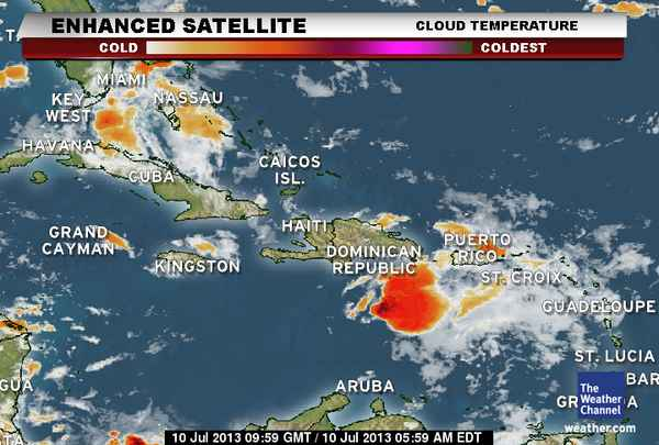Weather Islands Caribbean 10 Forecast Day