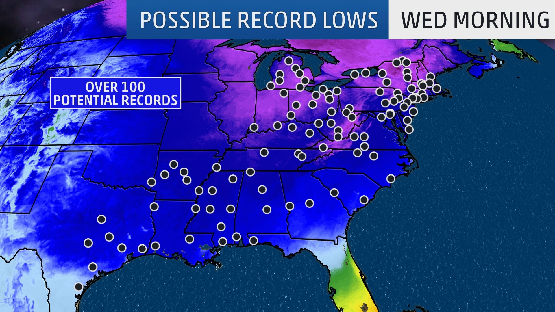 Arctic Blast to Shatter Mid-November Cold Records