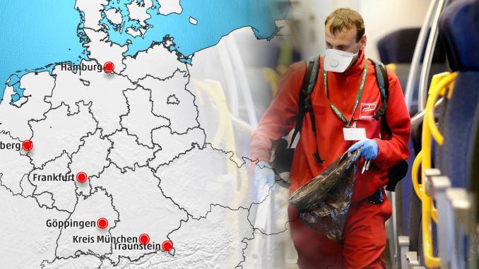 Karte der Ausbreitung: Zahl der Coronavirus-Infektion in Europa ...