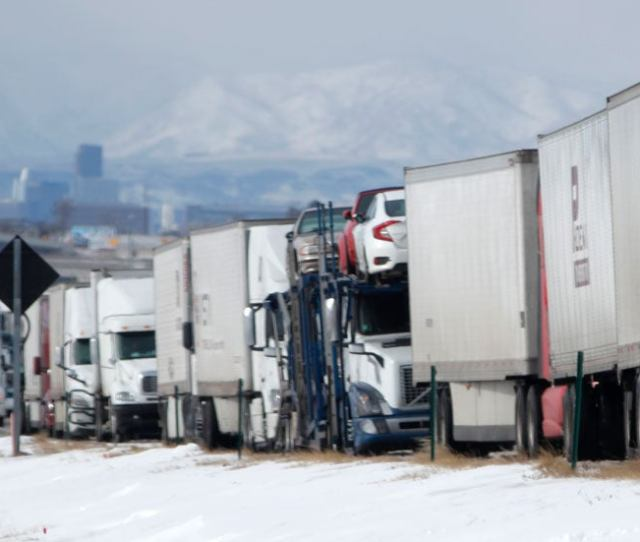 Ground Stops At Major Airports  Miles Of Interstate Shut