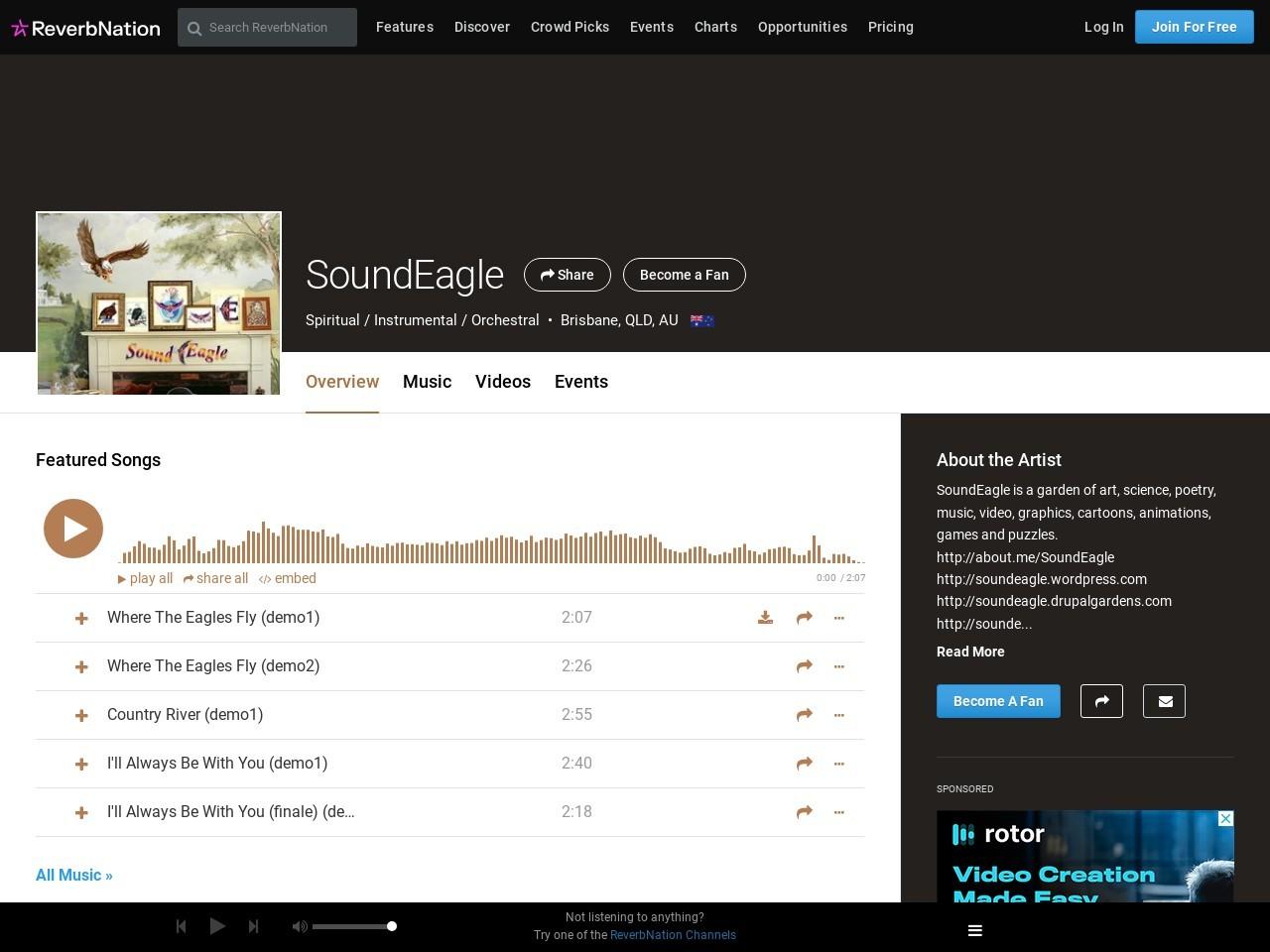 SoundEagle on ReverbNation