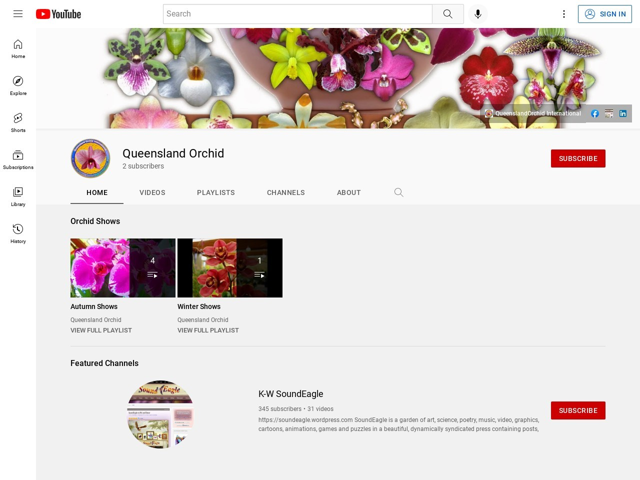 Queensland Orchid Society on YouTube