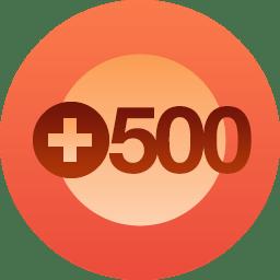 500 Follows!