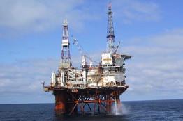 Rig pumping North Sea oil