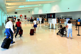 A new Key West airport departure terminal, opened in February, is part of a big expansion of passenger facilities.