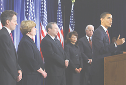 [Barack Obama y su equipo econ?mico]