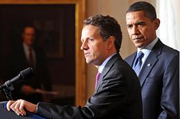[Geithner and Obama]