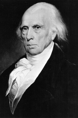 [ A painting of James Madison, fifth President of the United States serving from 1817 to 1825. Photo by National Archive/Newsmakers]