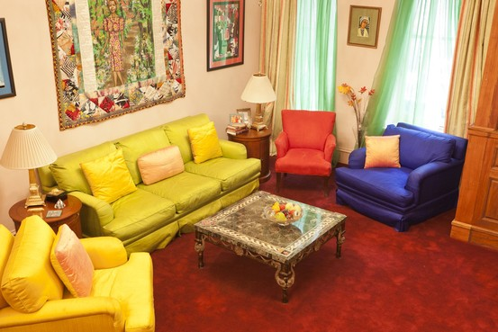 Blue And Yellow Living Rooms