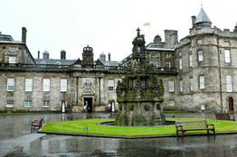 the Palace of of Holyroodhouse