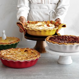 Sur La Table recently introduced oversize, 10-inch pie pans. Sur La Table
