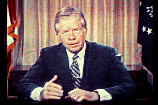 President Carter during the malaise speech