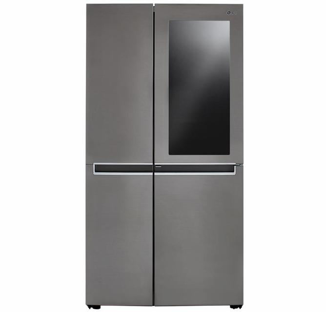 Lrses2706v Lg 36 Super Capacity Side By Side Refrigerator With Ice Maker And Instaview Door In