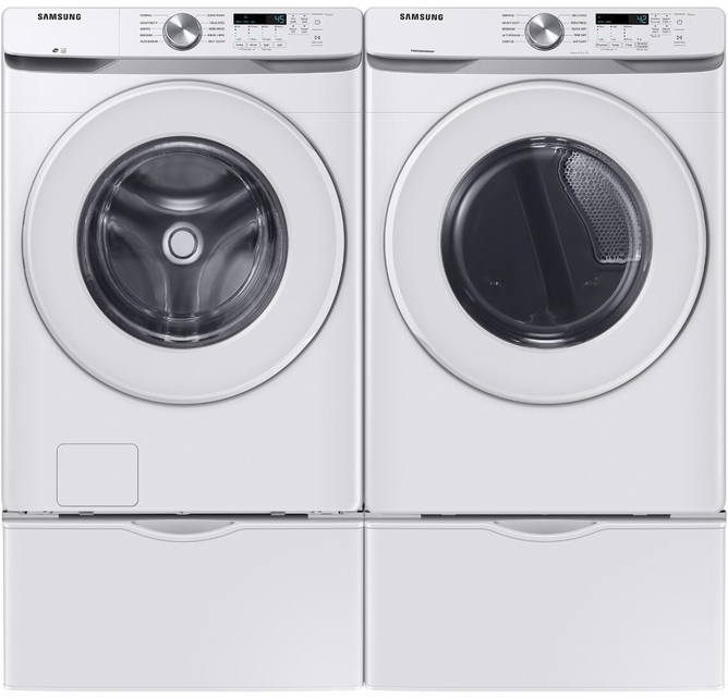 Wf45t6000aw Samsung 27 4 5 Cu Ft Front Load Washer With Self Clean White