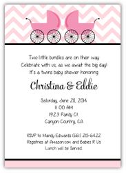 Themed Twin Baby Shower Invitations