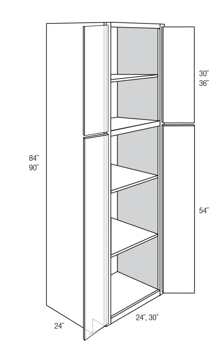 Wp2490b Tall Pantry Cabinet Plymouth Rta Kitchen Cabinet