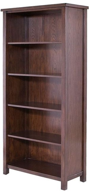 Lake Oak 4 Shelf Bookcase Dark Wood Brown Transitional Harbor House Hh131 0084