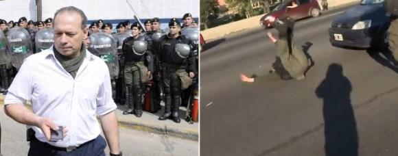"""¿Cómo defendió Berni al """"gendarme carancho""""?/ Captura de video"""