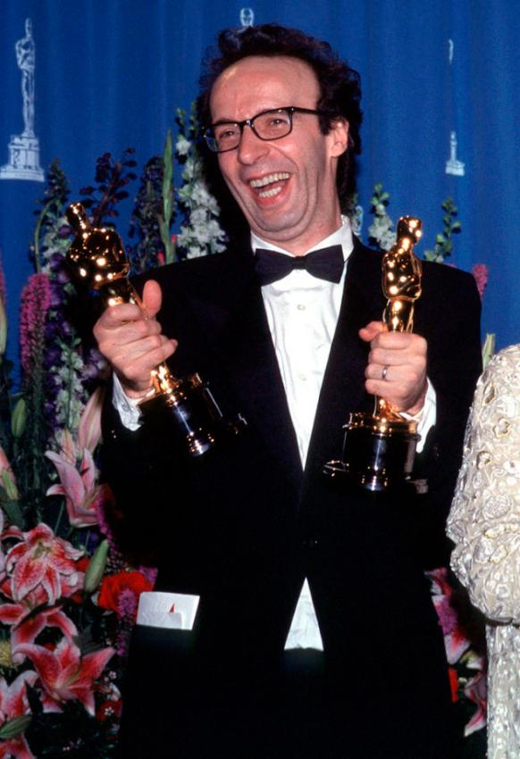 Roberto Benigni wins Best Actor for 'Life is Beautiful' (1999)