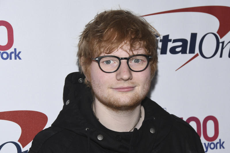 FILE - In this Dec. 8, 2017 file photo, Ed Sheeran attends Z100's iHeartRadio Jingle Ball at Madison Square Garden in New York. heeran has announced his engagement to girlfriend Cherry Seaborn. The Grammy-winning singer posted a picture of the two on his Instagram page Saturday, Jan. 20, 2018, saying the two got engaged right before the new year. (Photo by Charles Sykes/Invision/AP, File)