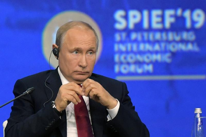 Putin called for rethinking the role of the US dollar in global trade and slammed US pressure against Chinese tech giant Huawei