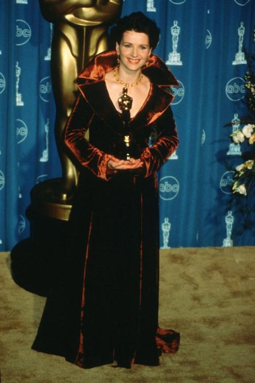 Juliette Binoche wins Best Supporting Actress for 'The English Patient' (1997)