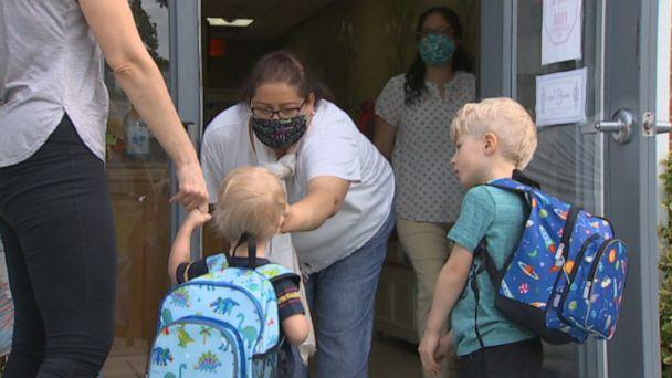 PHOTO: Children arrive at Circle Time Children's Center in Kensington, Maryland (ABC News)
