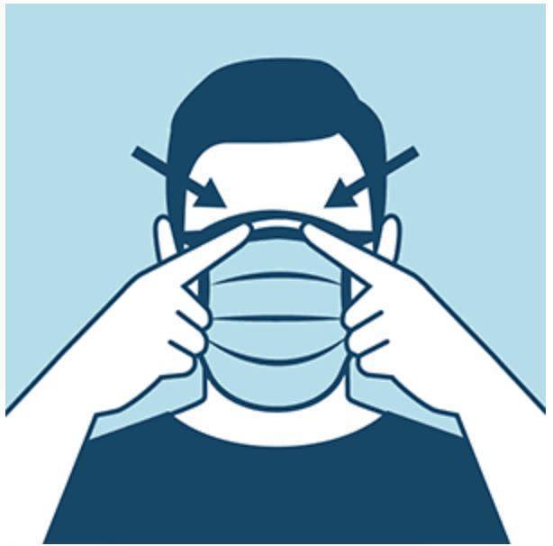"This CDC infographic demonstrates how your mask should be covering the bridge of your nose. (Photo: <a href=""https://www.cdc.gov/coronavirus/2019-ncov/prevent-getting-sick/diy-cloth-face-coverings.html"" rel=""nofollow noopener"" target=""_blank"" data-ylk=""slk:CDC"" class=""link rapid-noclick-resp"">CDC</a>)"