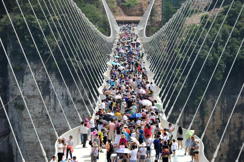 <p>The bridge has already set world records for its architecture and construction. (Getty Images)</p>