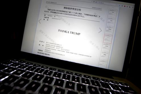 Picture result for China Grant Ivanka Trump five trademarks