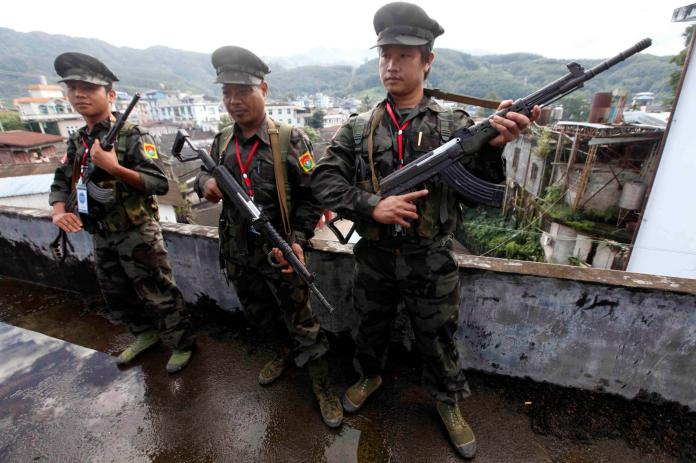 Ethnic guerrillas in Myanmar say they shot down helicopter