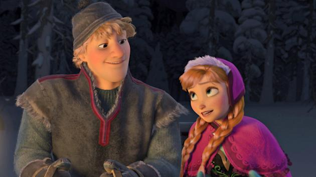 Once Upon A Time Casts Frozen Characters Anna And Kristoff
