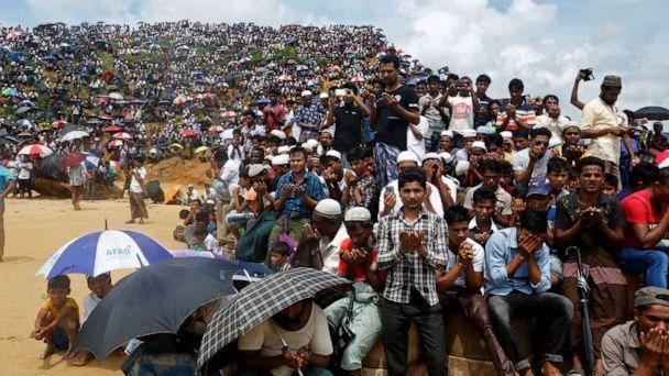 FILE PHOTO: Rohingya refugees take part in a prayer as they gather to mark the second anniversary of the exodus at the Kutupalong camp in Cox's Bazar, Bangladesh, August 25, 2019. REUTERS/Rafiqur Rahman/File Photo (Rafiquar Rahman/Reuters)