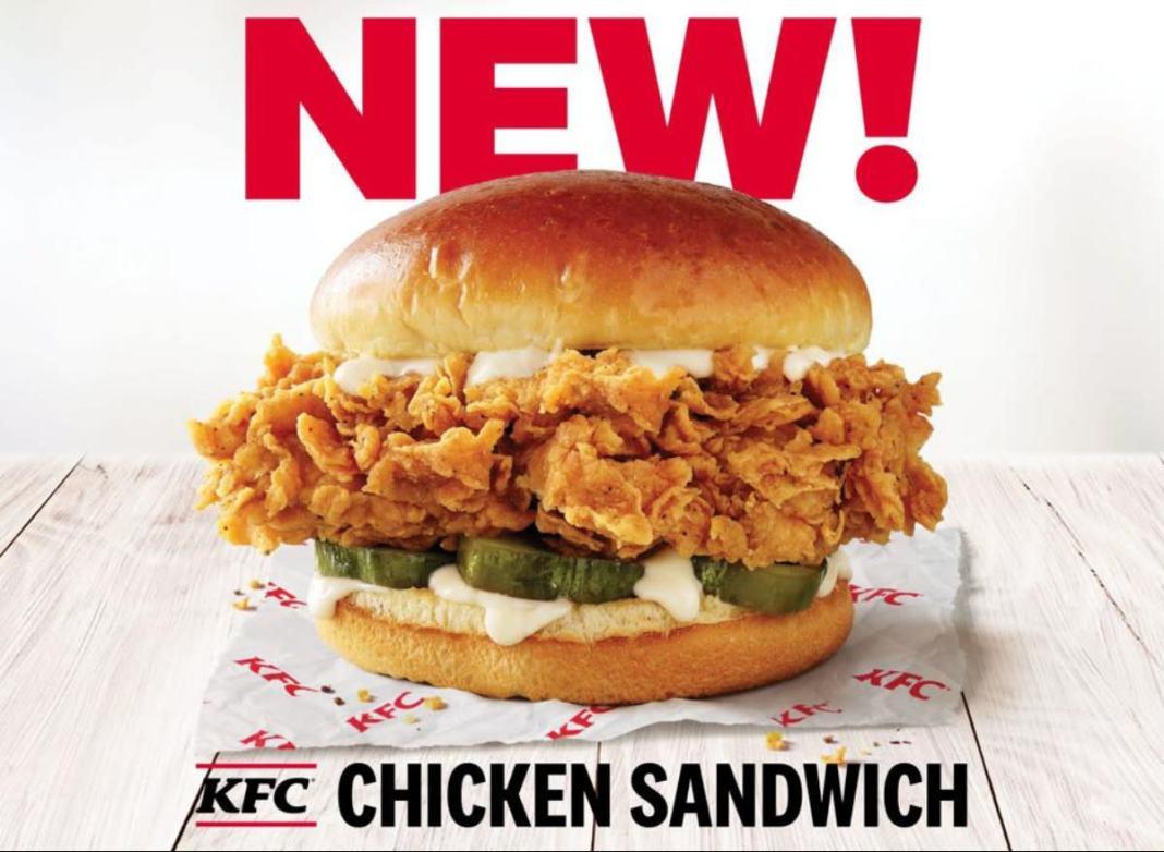 KFC modifies Iconic Chicken Sandwich  menu