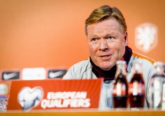 Koeman as coach of Dutch team